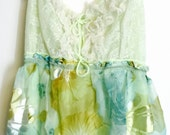 Altered slip dress in pale green and blues with sparkle special occasion party wedding bridesmail large