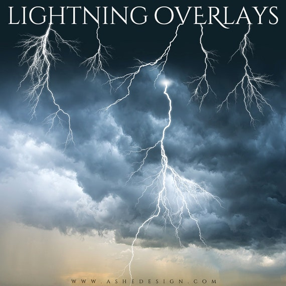 Designer gems lightning overlays 5 photoshop png files for Lightning link template
