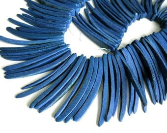 Dark Blue Wood Stick Beads - coconut indian stick 2 inch - 25pcs  (PC202A)