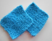 Crochet Kitchen Scubbies Turquoise Set of Two