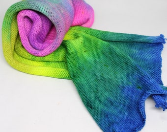 Hand Dyed Sock Yarn - Sock Blank - Superwash Merino Nylon - 463 yards - Playful