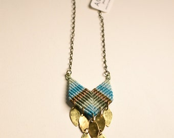 Chevron in Sunlight Necklace