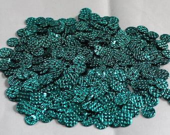 100 Metallic Green Color/ Round Sequins/Dotted Texture/ KBRS598