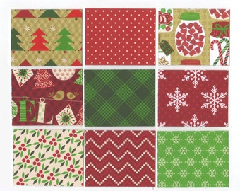 Christmas CandyLand Mini Note Cards (10) Favor Bag Tags / Ready To Ship / 2 x 2.5 inches