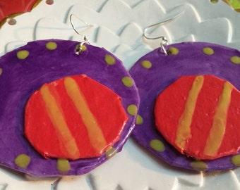 handmade paper mache earrings