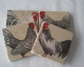 Custom order for IrinaChickens and Roosters Coasters