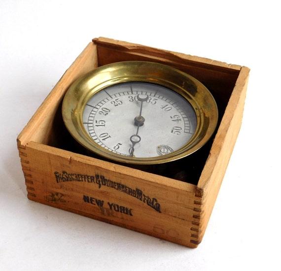 Vintage antique steampunk brass steam pressure gauge the - Steampunk pressure gauge ...