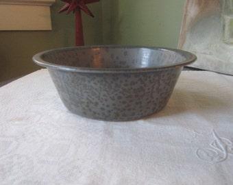 Antique Gray Graniteware Bason Bowl