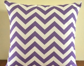 Pillow Cover, Pillow, Decorative Pillow, Purple Chevron/Zig Zag Cushion Cover - FREE SHIPPING AUS Only