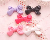 Cute Ribbon Bow Flatback Resin Cabcohon - 10 pieces | Resin Cabochon Decoden Supplies Jewelry Making Flatback Resin Cabochon