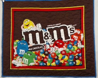 Fun M&M's Candy Lover Finished Baby Quilt/Wall Hanging 35 X43