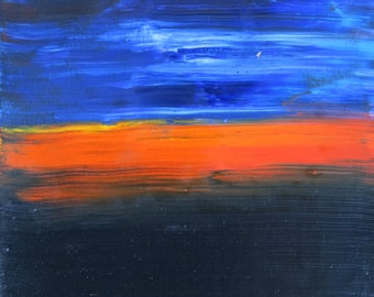 Light In The Presence of Dark oil painting landscape abstract by artist Jean Macaluso