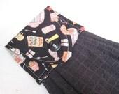 Hanging kitchen towel  button top Malt Shop Oldies Retro Kitchen  Quiltsy Handmade