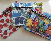 Ouch Pouch 3 Pack XL 7x9 Clear Front for Meds Diapers First Aid Toddler Overnight Supplies Snack Bags Baby Gift (You Choose Fabric / Label)