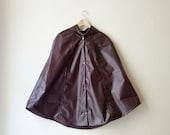 Brown Cape Hooded Raincoat, Waterproof Rain Poncho