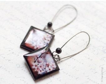 Cherry Blossom earrings - Flower jewelry  (E002)