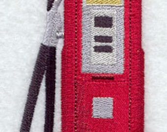 Embroidered Gas Pump - Vintage Gas Pump-Embroidered  Gas PumpTowel-Embroidered Towel-Flour Sack Towel-Hand Towel-Fingertip Towel- Bath Towel