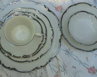 Silver crest fine china service for six Local Pick Up Only