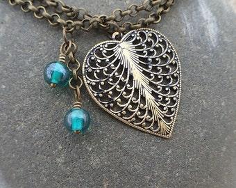 Double Stranded Filigree Heart Bracelet