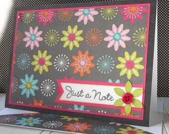 All Occasion Card with Matching Embellished Envelope - Crazy Daisy