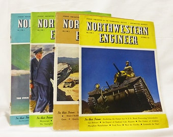 Northwestern engineer magazine technological institute vintage 1943,1944,1946