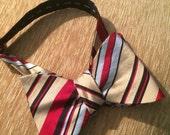 Vintage Mens Silk Blend Bowtie Bow Tie