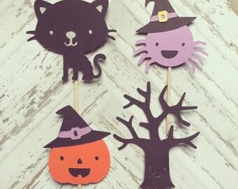 1 Dozen Halloween Cupcake Picks