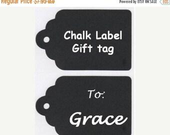 Get Organized SALE- Chalkboard Labels, Chalkboard Gift Tags Vinyl Chalkboard Labels Self Adhesive - Set of 12 - 3.5 inch