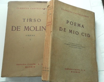 Pair of Vintage Spanish Books