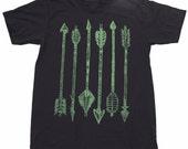 Mens ARCHERY green arrow Tshirt - American Apparel xs s m l xl xxl