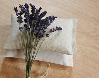 Organic Lavender Sachet - Natural or White Linen - Scented Drawer Sachets - Gifts for Women
