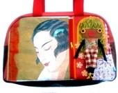 """Bag molly creative bag unique bag n25 """"Miss Shangai"""""""