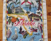 Souvenir of FloridaTea Towel Pure Linen 27 x 17 in.