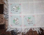 Little Lambs Counted Cross-stitch Baby Blanket