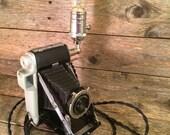 Kodak Tourister Camera Camera Lamp (vintage, re-purposed)  Table Lamp | Desk Lamp | Steampunk Lamp | Industrial Lamp | Edison Lamp | Marco
