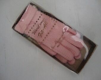 pink vintage gloves