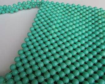 Rare vintage green Lady Ellen Beaded Handbag Purse - British Hong Kong