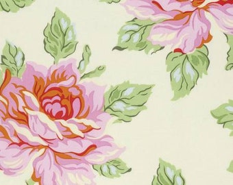 Heather Bailey Nicey Jane Hello Roses in Cream 1  yard