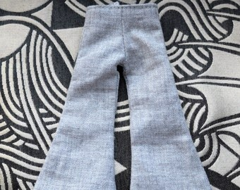 Gorgeous grey coloured wide leg trouser for Blythe Doll