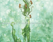 RETIRING SOON Mermaid 8X10 PRINT by Amy Brown