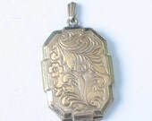 CIJ Sale Victorian Photo Locket Rolled Gold Chased Design Vintage
