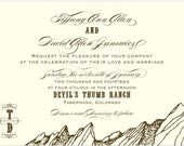 Mountain Ranch Wedding Invitation - Collection options available