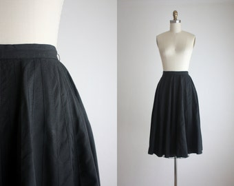 1950s black swing skirt