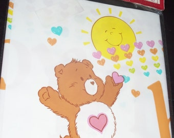 Vintage Classic Care Bears Tenderheart Happy  Birthday Banner 1980's