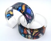Lucite Bangle Christmas Gift Stained Glass Pattern, Acrylic Jewelry