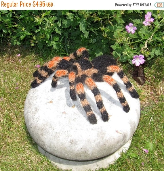 HALF PRICE SALE Instant Digital File Pdf Download My Pet Tarantula Toy Spider pdf download knitting pattern