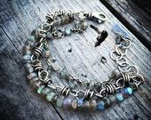 Sterling Silver Bracelet  Labradorite Bracelet Handmade Wild Prairie Silver Jewelry Joy Kruse