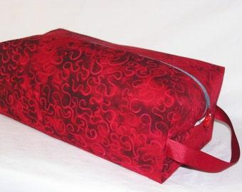 Crimson Swirl Batik Sweater Bag