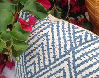 "Designer Pillows, Ocean Dunes With Linen, 13"" square"