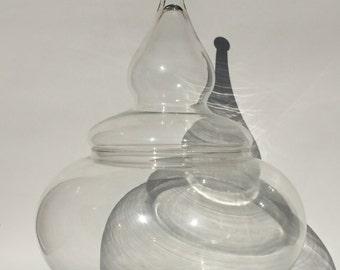 Vintage Pagoda Glass Jar
